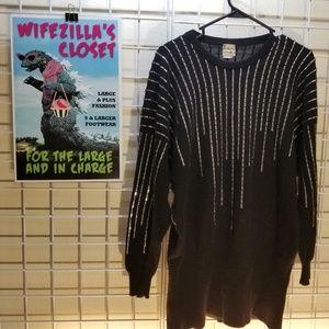 Krizia Maglia Vintage Angora Sweater w Silver Sz S